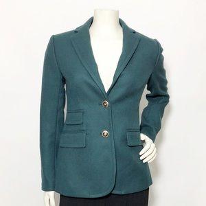J. Crew Hacking Emerald Gold Blazer Jacket